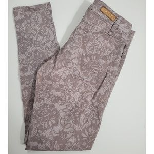Sanctuary Lace Print Skinny Pants